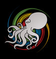 angry octopus graphic vector image