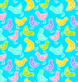 Bird pattern blue vector image