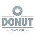 donut logo simple gray style vector image