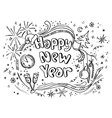 Doodle new year vector image