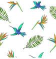 hand drawn tropic seamless pattern vector image