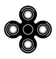modern spinner black icon on white vector image