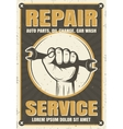 Repair Service Retro Style Poster vector image