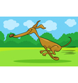 running greyhound cartoon vector image