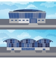 Set with two modern buildings vector image