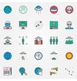 UFO and aliens flat icons vector image