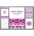 hand drawn mexican templates set vector image