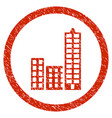 city rounded grainy icon vector image