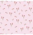 Vintage carnations pattern vector image