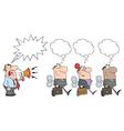 Wind-up workers cartoon vector image