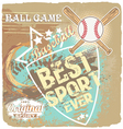 baseball best sport ever vector image vector image