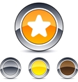 star round button vector image vector image