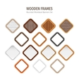 Wooden Rounded Rhomboid Frames vector image vector image