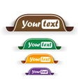 Collection of bookmarks vector image