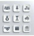 Startup business icon web icons set vector image vector image