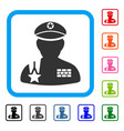 army general framed icon vector image