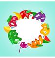 assorted fruit splash element vector image
