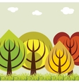 Autumn trees abstract background vector image
