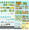 Different urban objects collection isolated vector image