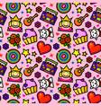 girl fashion seamless pattern vector image