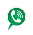 Green phone bubble icon vector image