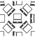 Laptop icon pattern vector image