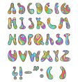 Psychedelic letters vector image