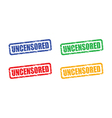 Uncensored set vector image