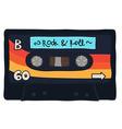 Vintage cassette tape stitched together vector image