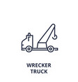 wrecker truck line icon outline sign linear vector image