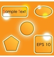 set of shapes vector image vector image