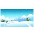 City skyline snow landscape vector image vector image