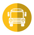 school bus transport design shadow vector image