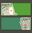 banner for title pokers gamble game vector image