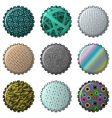 textured bottle caps vector image vector image