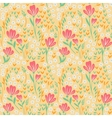 Elegant seamless pattern with pink yellow and vector image