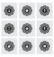Archive icon set vector image