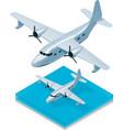 isometric seaplane vector image