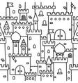 Hand drawn castle doodle tower pattern vector image