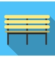 Bench flat icon vector image