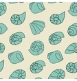 Blue shell pattern on the gray background vector image