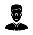 clerk with glasses icon sig vector image