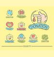 donate money set logo icons help icon donation vector image