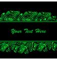 green black border vector image