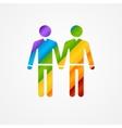 Sign of couple men LGBT card vector image