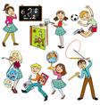 set with school children vector image