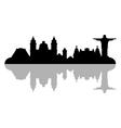 rio de janeiro skyline vector image