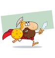Roman soldier cartoon vector image