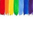Watercolor rainbow backgound vector image