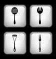 set cutlery vector image vector image